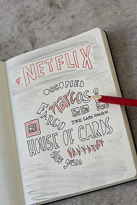 Bullet Journal, Lexikon, Anleitung, Bullet Planner, Collection, Netflix